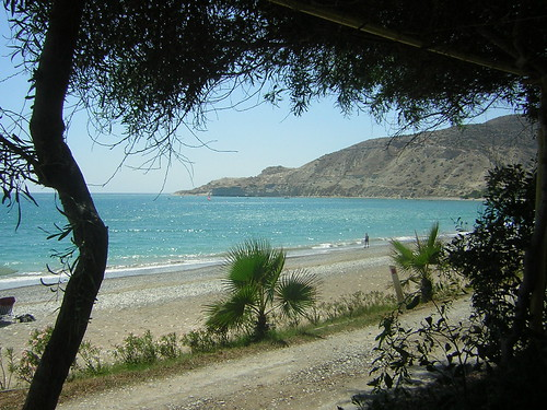 Pissouri Beach in Cyprus, beautiful and deserted.