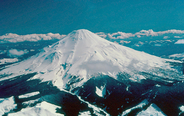 Mount St. Helens Before Eruption: March 28, 1980. Photo: DNR