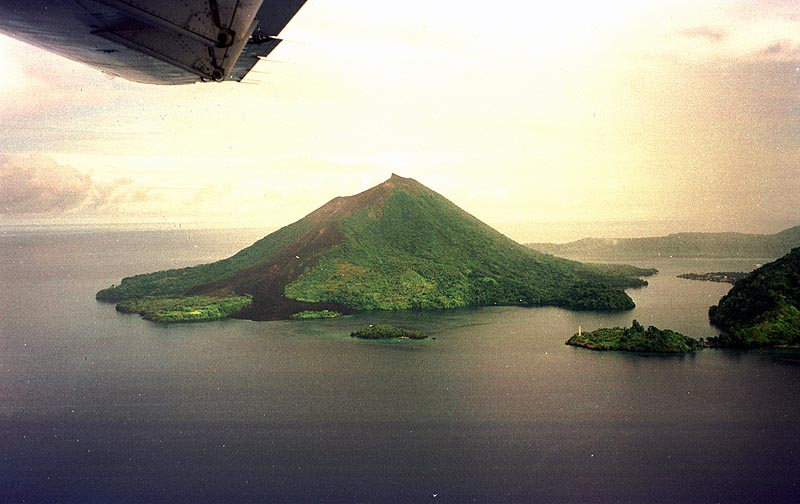 Banda islands from the air 2