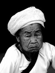Old woman, Yunnan, China