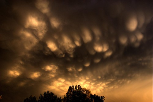 sunset sky storm reflection clouds skyscape colorado shadows denver littleton mammatus 200706