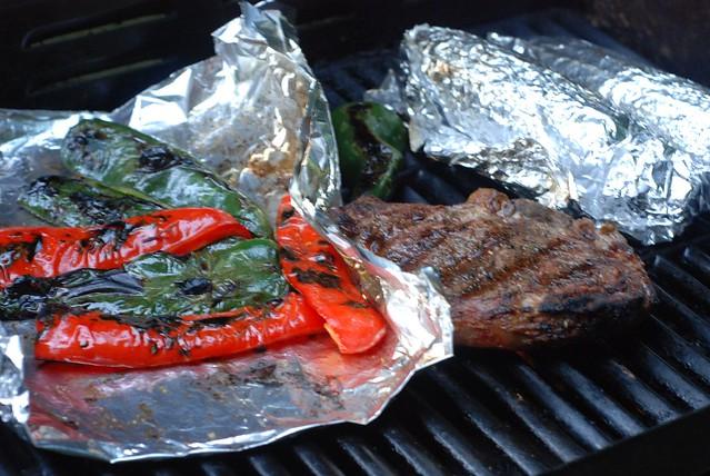 RibEye Steak, Peppers & Corn on the Cob