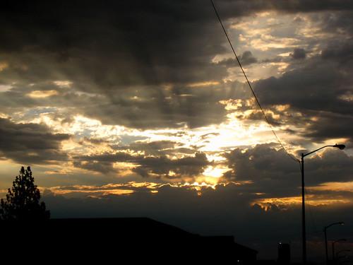 sky clouds sunrise work fresno august302007