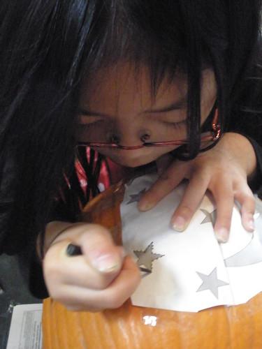 Olivia Punching Design in Pumpkin