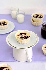 Blueberry Swirl Mini Cheesecakes