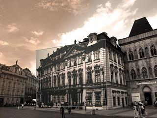 Billede af Kinský Palace. sepia prague praha praga kafka franzkafka hermann staromestské