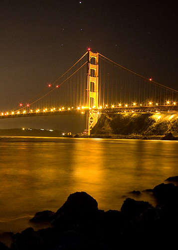 sanfrancisco california longexposure reflection stars goldengatebridge sausalito