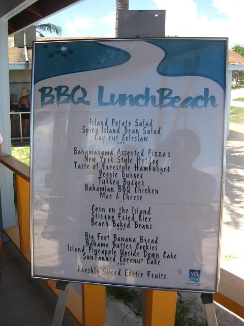 great stirrup cay bbq lunch menu