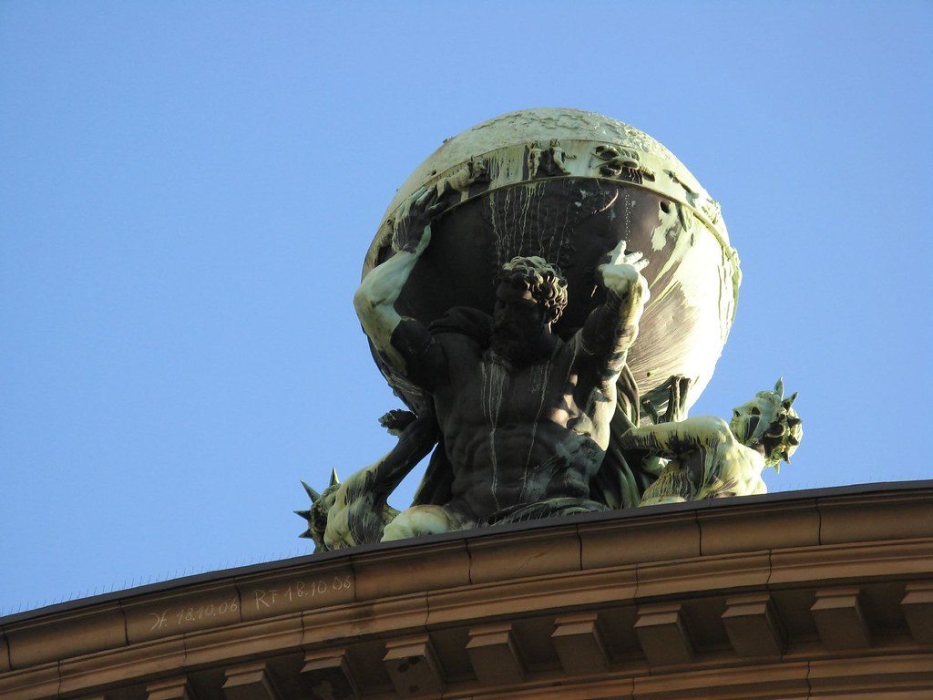 Atlas holds up the world