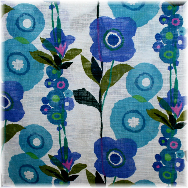 Blue Flower Vintage Fabric