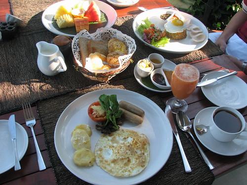 一樣豐盛的早餐