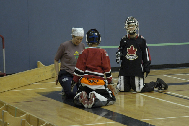 Floorball Goalie Training