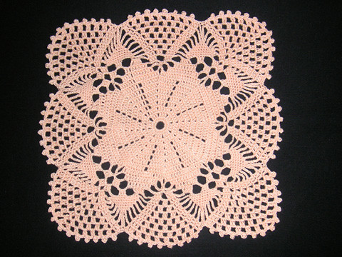 Patterns Doilies Vintage Crochet Square Doily Pattern