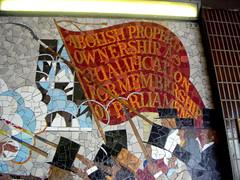 The six points of the charter art in newport john wilson for Chartist mural newport