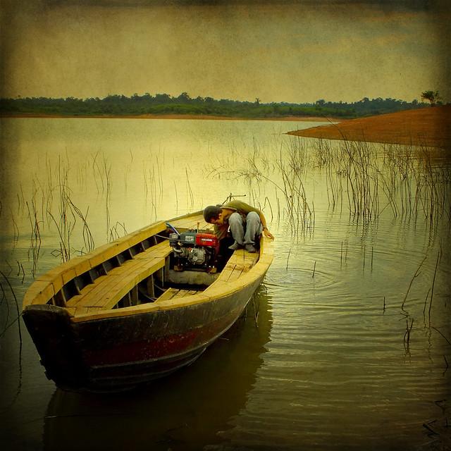 On the Tri An lake
