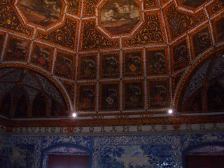 Image of Sintra National Palace near Sintra. portugal painted sintra royal grand palace ceiling unesco tiles nationalpalace unescoworldheritagesites