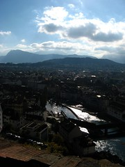 Old town Lucerne with Spreuerbrücke
