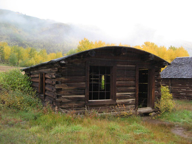 ghost town cabin with arched roof flickr photo