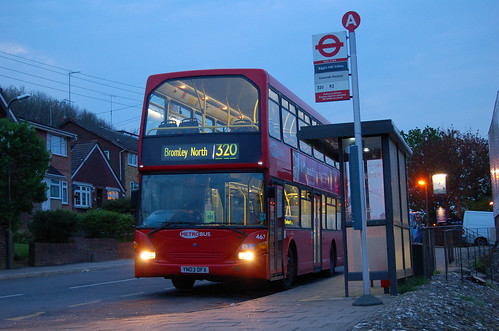 Metrobus 467 on route 320