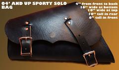 sportster bag black with measurements
