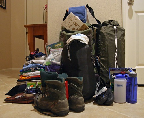 two-night backpacking trip gear