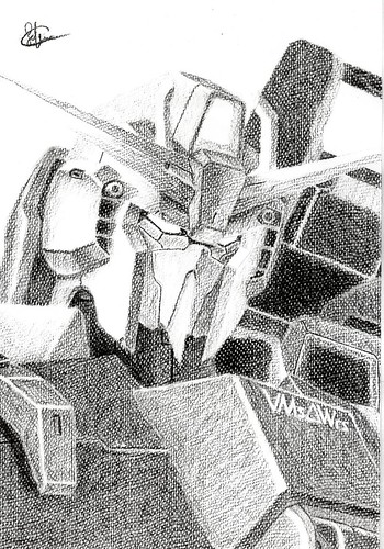 Hand Drawing-Z Gundam by sakura_fungwan