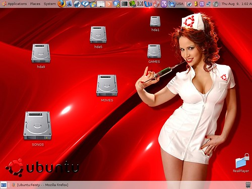 My Ubuntu 7.04 screenshot