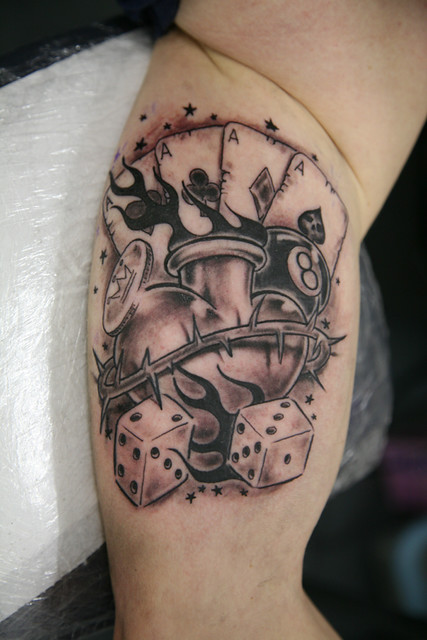 heart n cards Tattoo