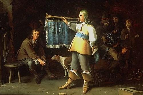 1660 Anthonie Palamedesz Officer blowing a trumpet