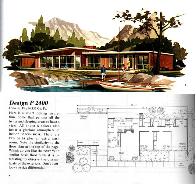 Mcm houseplans flickr photo sharing Mid century modern home plans