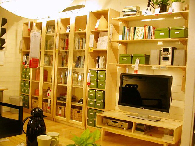 ikea billy tv a gallery on flickr. Black Bedroom Furniture Sets. Home Design Ideas