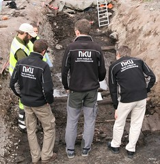 Archaeological excavation, district heating, inspection