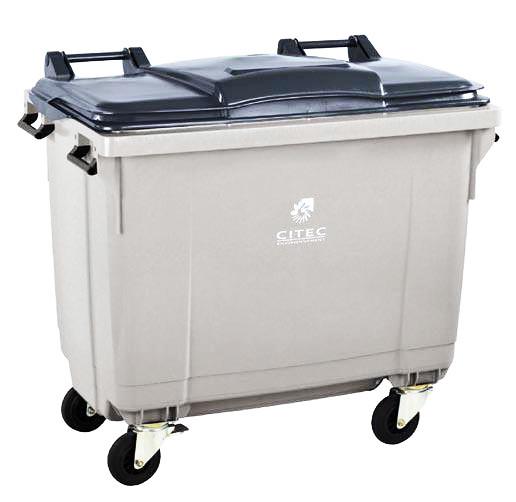 Conteneur poubelle citec 660 litres conteneur poubelle - Poubelle encastrable 30 litres ...