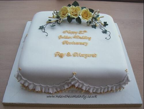 50th golden wedding anniversary cake 1
