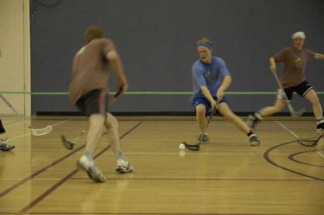 Action at the 1st Annual BC Floorball Federation Challenge