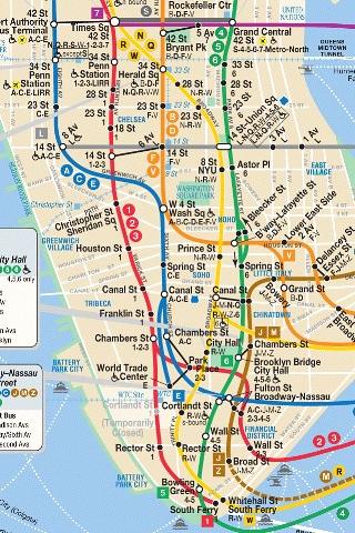 Iphone Nyc Subway Map Lower Third Of Manhattan Joannou Ng Flickr