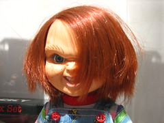nose, face, hairstyle, brown, red, head, hair, long hair, hair coloring, mouth, red hair, wig, doll, eye, organ, toy,