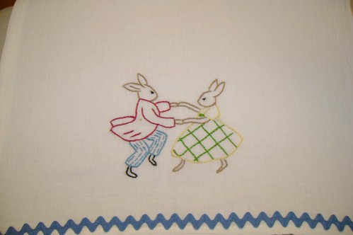 Bunnies Burp Cloth