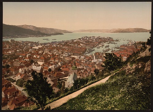 [General view from Fjeldveien, Bergen, Norway] (LOC)