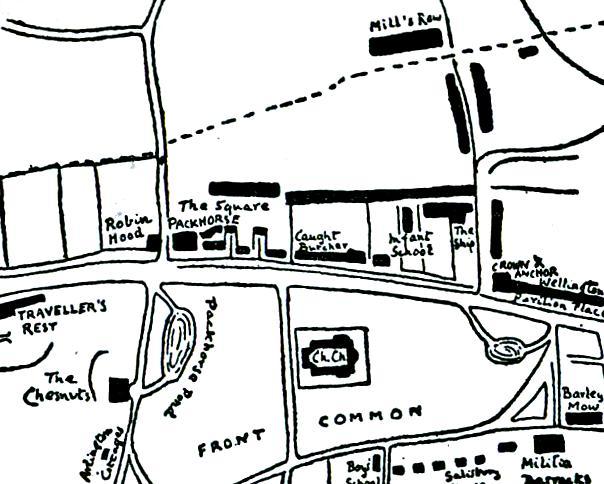 1863 map of Turnham Green,Chiswick