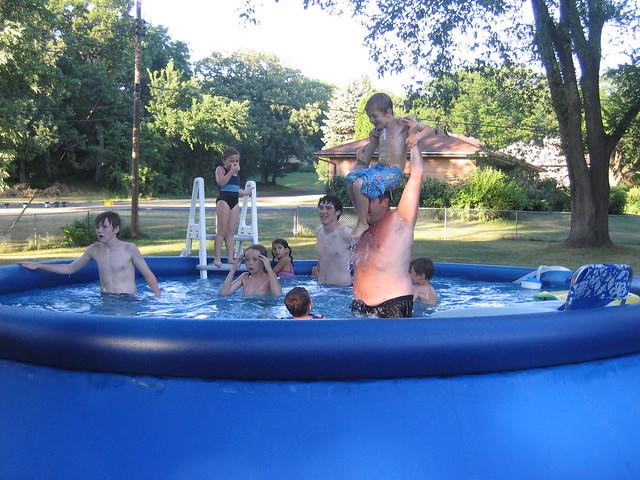 white trash backyard pool party flickr photo sharing