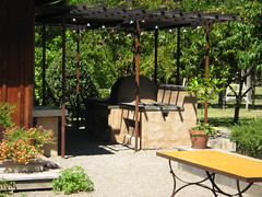 backyard, outdoor structure, furniture, garden, pergola, patio,