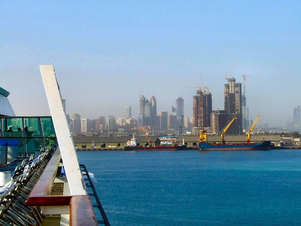 Abu Dhabi Skyline from the port