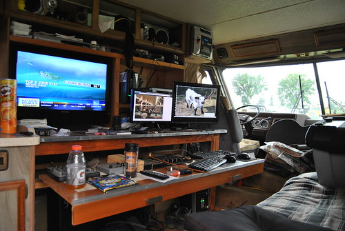 The nerve center of Loco Steve's RV.