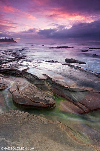 morning pink red seascape green art beach wet water pool rain rock clouds contrast sunrise canon point dawn coast photo moss rocks waves purple pacific cloudy chad tide wave australia pacificocean qld queensland 5d mystical canon5d shallow colourful reverse tidal canonef1740mmf4lusm sunshinecoast solomon caloundra rainclouds headland seaspray singh myst rockpool fluffyclouds iso50 greenrocks queesnland singhray chadsolomon rainclounds wavemyst wavemist