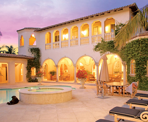 Mexican hacienda style home homedesignpictures for Spanish hacienda style