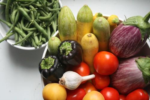fresh fruit and veg to prevent spots