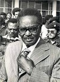 President Agostino Neto as leader of the MPLA and the People's Republic of Angola, first invited the Cuban Internationalists to Angola in 1975. by Pan-African News Wire File Photos