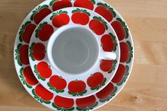 flower(0.0), wheel(0.0), produce(0.0), food(0.0), dishware(1.0), serveware(1.0), cup(1.0), tableware(1.0), saucer(1.0), ceramic(1.0), porcelain(1.0),