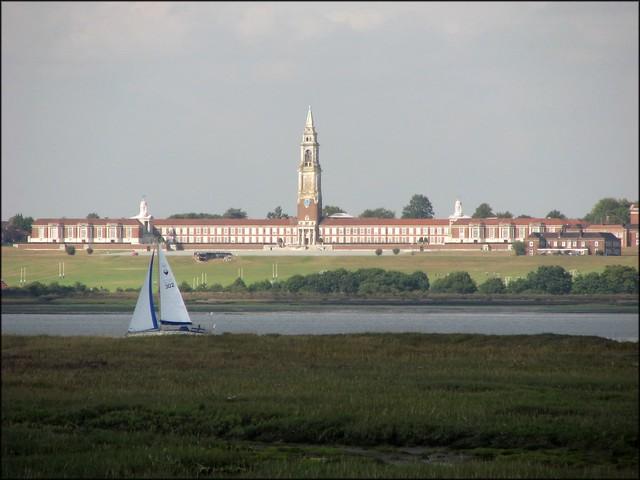 The Royal Hospital School across the Stour